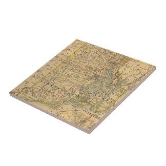 Vintage Map of Rhode Island (1875) Ceramic Tile
