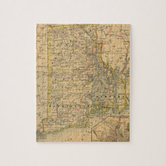 Vintage Map of Rhode Island (1875) Jigsaw Puzzle