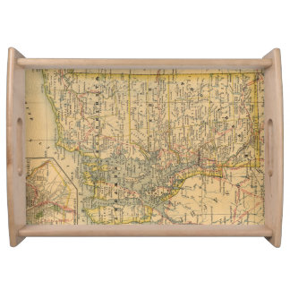 Vintage Map of Rhode Island (1875) Serving Tray