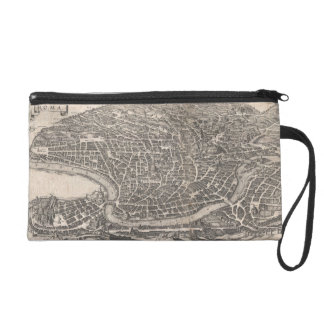 Vintage Map of Rome Italy (1652) Wristlet Purse
