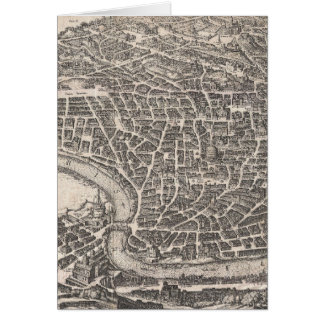 Vintage Map of Rome Italy (1652) Card