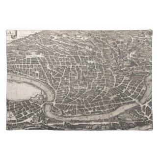 Vintage Map of Rome Italy (1652) Cloth Placemat