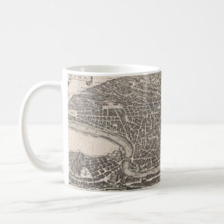 Vintage Map of Rome Italy (1652) Coffee Mug