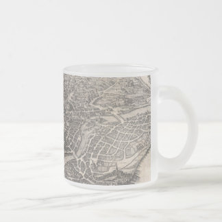 Vintage Map of Rome Italy (1652) Frosted Glass Coffee Mug