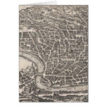 Vintage Map of Rome Italy (1652) Greeting Card