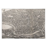 Vintage Map of Rome Italy (1652) Place Mat