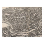 Vintage Map of Rome Italy (1652) Post Cards