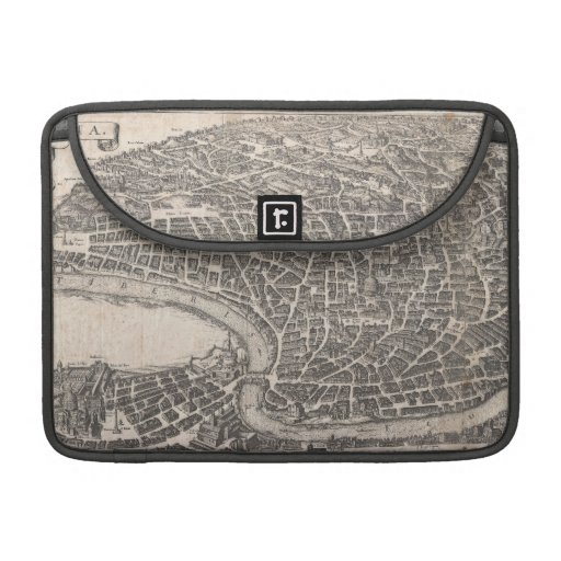 Vintage Map of Rome Italy (1652) Sleeves For MacBook Pro