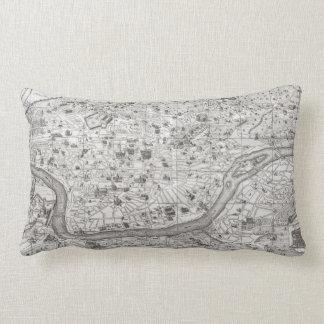 Vintage Map of Rome Italy (1721) 2 Lumbar Pillow