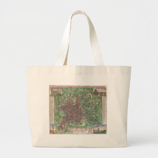 Vintage Map of Rome Italy (1721) Canvas Bag