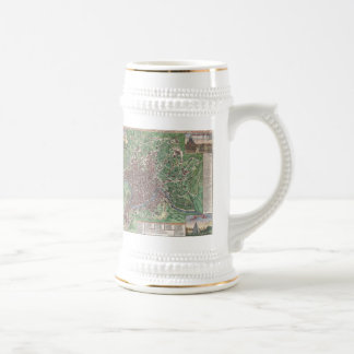 Vintage Map of Rome Italy (1721) Beer Stein