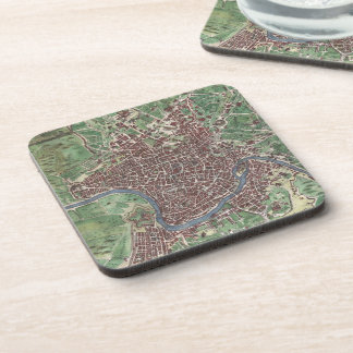 Vintage Map of Rome Italy (1721) Coasters