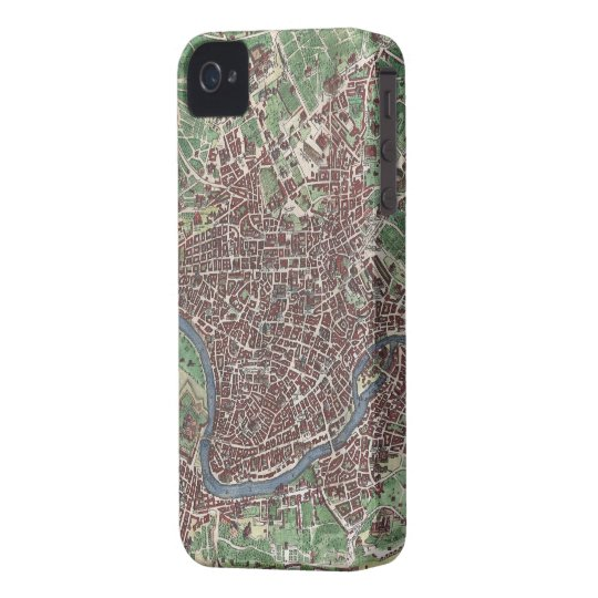 Vintage Map of Rome Italy (1721) iPhone 4 Case-Mate Case