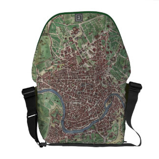 Vintage Map of Rome Italy 1721 Messenger Bag