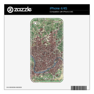 Vintage Map of Rome Italy (1721) iPhone 4 Decal