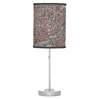 Vintage Map of Rome Italy (1721) Table Lamp
