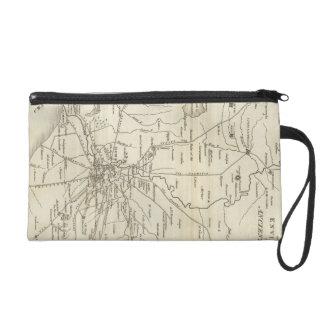 Vintage Map of Rome Italy (1821) Wristlet
