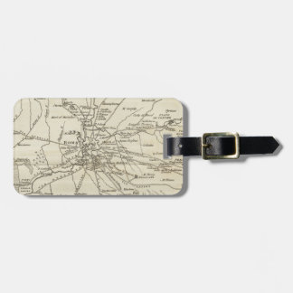 Vintage Map of Rome Italy (1821) Bag Tag