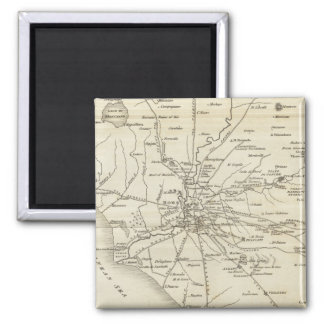 Vintage Map of Rome Italy (1821) Magnet