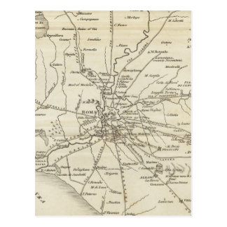 Vintage Map of Rome Italy (1821) Postcard