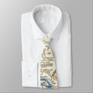 Vintage Map of Rome Italy (1870) Tie