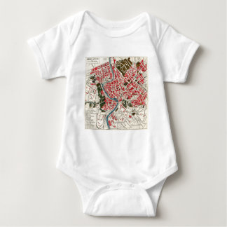 Vintage Map of Rome, Italy. Baby Bodysuit