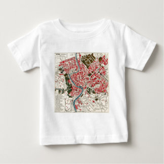 Vintage Map of Rome, Italy. Baby T-Shirt