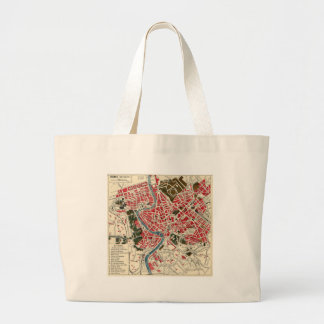Vintage Map of Rome, Italy. Canvas Bags