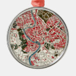 Vintage Map of Rome, Italy. Christmas Ornaments