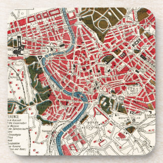 Vintage Map of Rome, Italy. Coaster