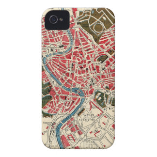 Vintage Map of Rome, Italy. iPhone 4 Case