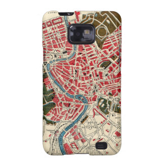 Vintage Map of Rome, Italy. Samsung Galaxy S2 Case