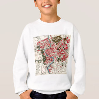 Vintage Map of Rome, Italy. Sweatshirt