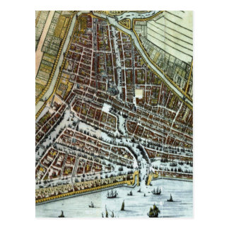 Vintage Map of Rotterdam Netherlands (1649) Postcard