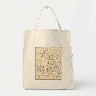 Vintage Map of Salem Massachusetts (1892) Grocery Tote Bag