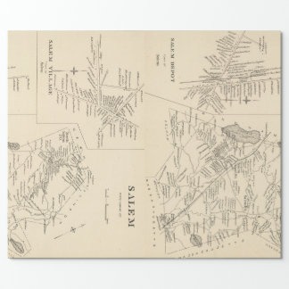 Vintage Map of Salem Massachusetts (1892) Wrapping Paper