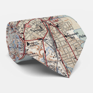 Vintage Map of Salem Massachusetts (1942) Neck Tie