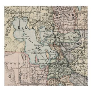 Vintage Map of Salt Lake City (1891) Poster