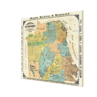 Vintage Map of San Francisco (1890) Canvas Print