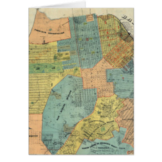 Vintage Map of San Francisco (1890) Cards