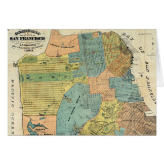 Vintage Map of San Francisco (1890) Greeting Card