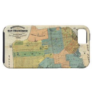 Vintage Map of San Francisco 1890 iPhone 5 Cases