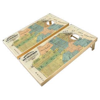 Vintage Map of San Francisco (1890) Cornhole Set