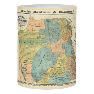 Vintage Map of San Francisco (1890) Flameless Candle