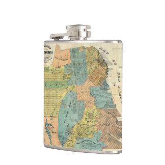 Vintage Map of San Francisco (1890) Flask