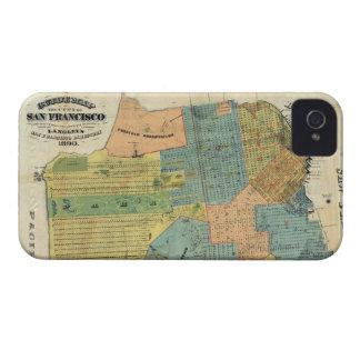 Vintage Map of San Francisco (1890) iPhone 4 Case-Mate Case