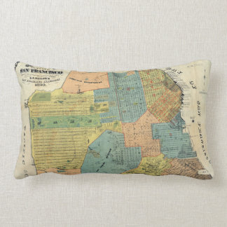 Vintage Map of San Francisco (1890) Lumbar Pillow