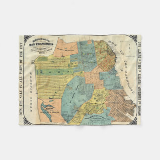Vintage Map of San Francisco (1890) Fleece Blanket