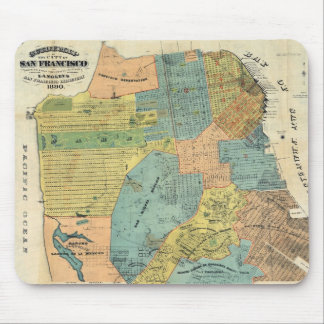 Vintage Map of San Francisco (1890) Mouse Pad