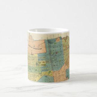 Vintage Map of San Francisco (1890) Classic White Coffee Mug